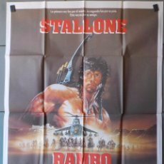 Cine: (N155) RAMBO III, SYLVESTER STALLONE, CARTEL DE CINE ORIGINAL 100X70 CM APROX. Lote 207956365