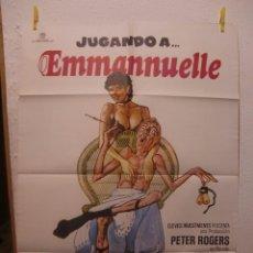 Cine: CARTEL CINE ORIG JUGANDO A EMMANUELLE (1979) 70X100 / GERAD THOMAS. Lote 98245547