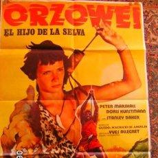 Cine: ORZOWEY CARTELERA ORIGINAL DE CINE. Lote 98351295