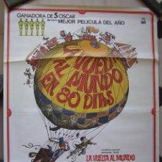 Cine: CARTEL ORIGINAL DE UNA REPOSICION DE : LA VUELTA AL MUNDO EN 80 DIAS.1983. Lote 98372791