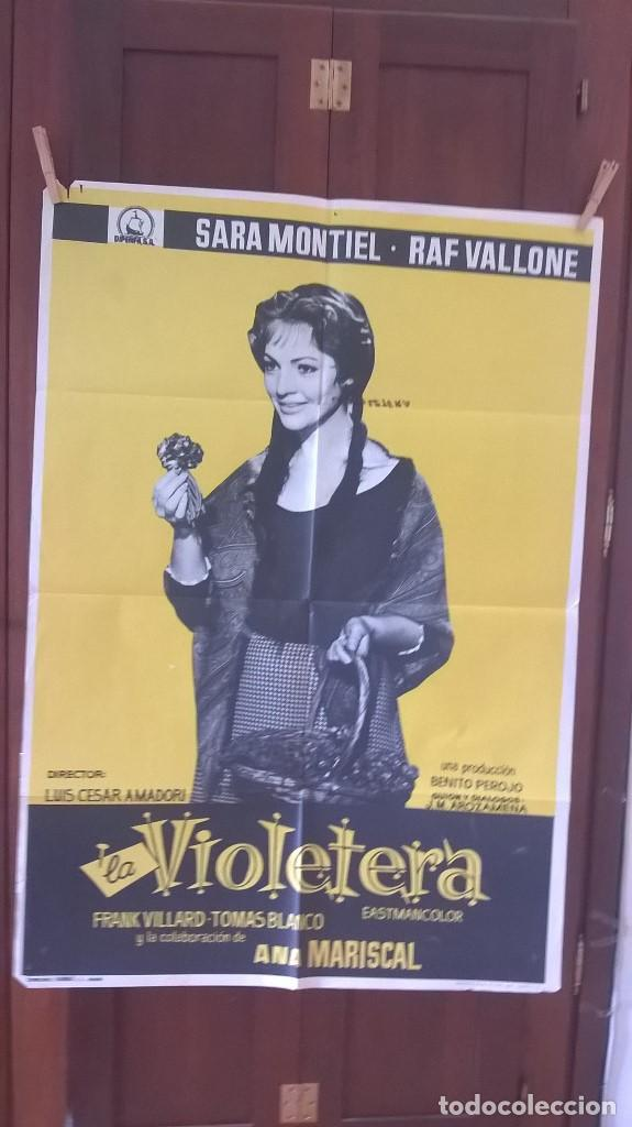 POSTER LA VIOLETERA SARA MONTIEL (Cine - Posters y Carteles - Clasico Español)