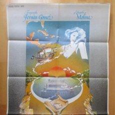 Cine: CARTEL CINE, LOS RESTOS DEL NAUFRAGIO, FERNANDO FERNAN GOMEZ, ANGELA MOLINA, 1978, C473. Lote 98471743