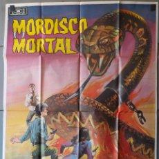 Cinéma: (N194) MORDISCO MORTAL, PETER FONDA,OLIVER REED, CARTEL DE CINE ORIGINAL 100X70 CM APROX. Lote 183546627