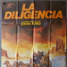 Cine: (N198) LA DILIGENCIA, JOHN FORD,JOHN WAYNE,MATAIX, CARTEL DE CINE ORIGINAL 100X70 CM APROX. Lote 185911613