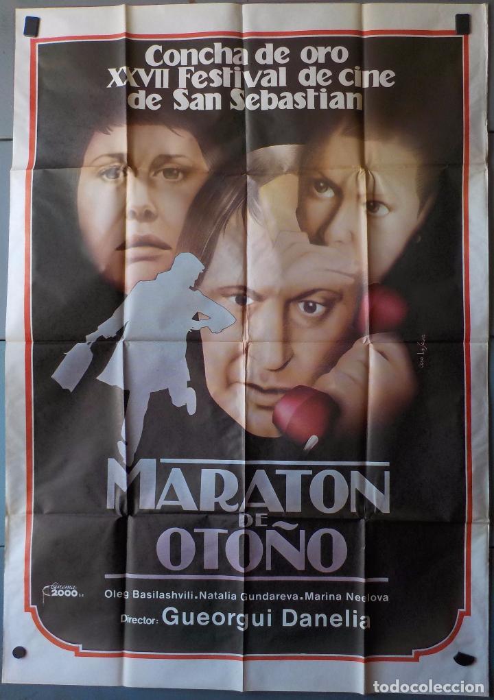 (N200) MARATON DE OTOÑO, OLEG BASILASHVILI Y NATALIA GUNNDAREVA, CARTEL DE CINE ORIGINAL 100X70 CM A (Cine - Posters y Carteles - Suspense)