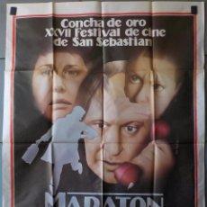 Cine: (N200) MARATON DE OTOÑO, OLEG BASILASHVILI Y NATALIA GUNNDAREVA, CARTEL DE CINE ORIGINAL 100X70 CM A. Lote 98707079