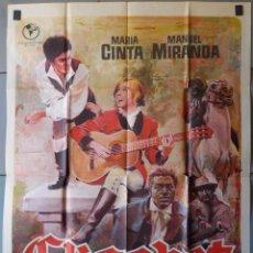 Cine: (N215) ELISABET, MARIA CINTA,MANUEL MIRANDA, CARTEL DE CINE ORIGINAL 100X70 CM APROX. Lote 137123954