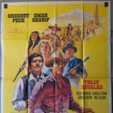 Cine: (N217) EL ORO DE MACKENNA, TELLY SAVALAS,GREGORY PECK,OMAR SHARIFF, CARTEL DE CINE ORIGINAL 100X70 C. Lote 222219743
