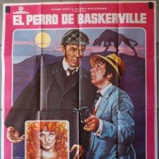 Cine: (N220) EL PERRO DE LOS BASKERVILLE, PETER COOK, MAC, CARTEL DE CINE ORIGINAL 100X70 CM APROX. Lote 204500593