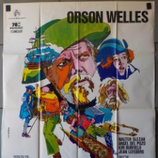 Cine: (N224) LA ISLA DEL TESORO, ORSON WELLES, CARTEL DE CINE ORIGINAL 100X70 CM APROX. Lote 195016746