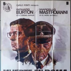 Cinema: (N360) MUERTE EN ROMA, RICHARD BURTON,MARCELLO MASTROIANI, CARTEL DE CINE ORIGINAL 100X70 CM APROX. Lote 98712827