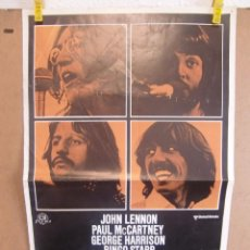 Cine: CARTEL CINE ORIG THE BEATLES / LET IT BE (1970) 30X50 /. Lote 98857087