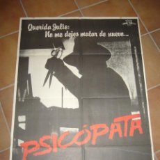 Cine: PSICOPATA (SCHIZOID) KLAUS KINSKI POSTER ORIGINAL 70X100 Q. Lote 98947743