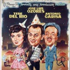 Cine: EL GAFE. JOSÉ LUIS OZORES-ANTONIO GARISA-TERE DEL RÍO. CARTEL ORIGINAL 1959. 70X100. Lote 99242775