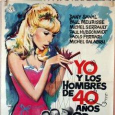 Cine: YO Y LOS HOMBRES DE 40 AÑOS. CARTEL ORIGINAL 1965. 70X100. Lote 99243067