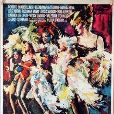 Cine: LAS SLAVAJES EN PUENTE SAN GIL. ADOLFO MARSILLACH-ANTONIO RIBAS. CARTEL ORIGINAL 1967. 70X100. Lote 99243339