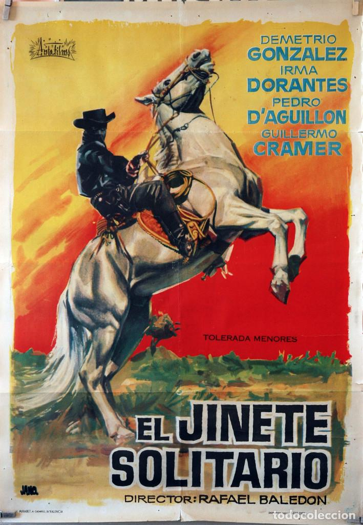 EL JINETE SOLITARIO. RAFAEL BALEDON. CARTEL ORIGINAL 1963. 70X100 (Cine - Posters y Carteles - Westerns)