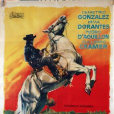 Cine: EL JINETE SOLITARIO. RAFAEL BALEDON. CARTEL ORIGINAL 1963. 70X100. Lote 99243935
