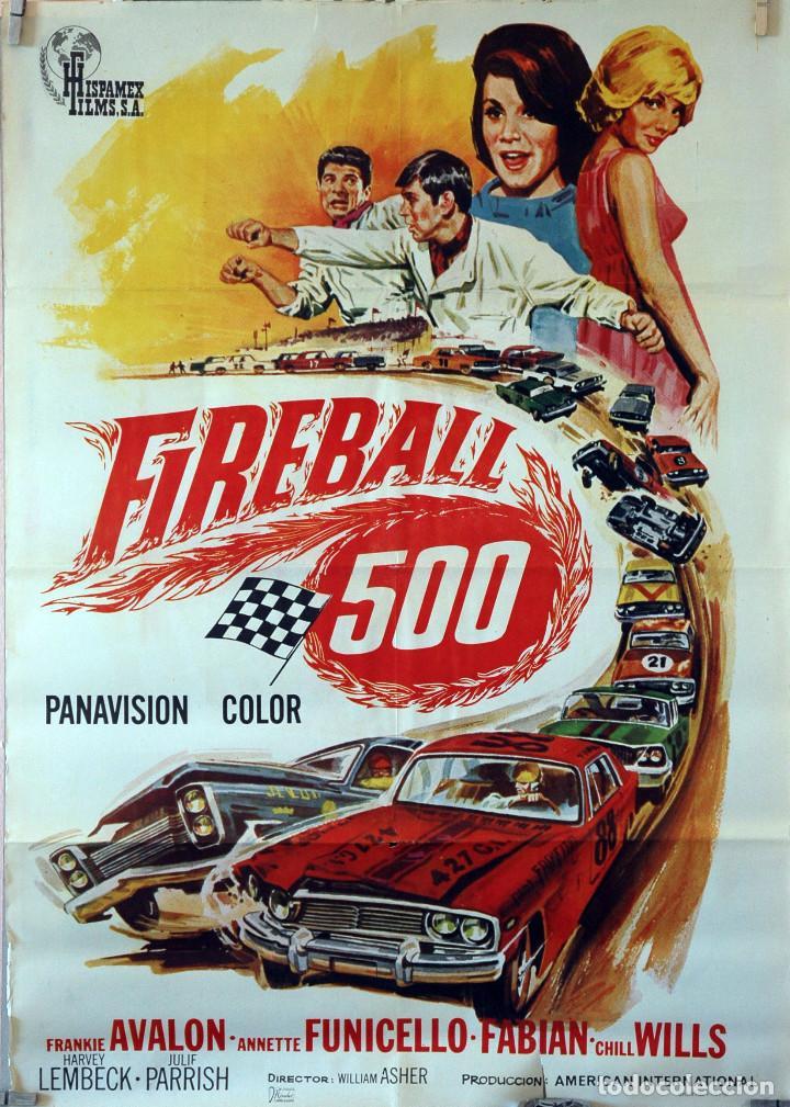 FIREBALL 500. WILLIAM ASHER. CARTEL ORIGINAL 1967. 70X100 (Cine - Posters y Carteles - Acción)