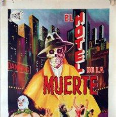 Cine: EL HOTEL DE LA MUERTE. SANTO EL ENMASCARADO DE PLATA CARTEL ORIGINAL 1965. 70X100. Lote 99245759