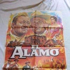 Cine: CARTEL CINE EL ALAMO JOHN WAYNE 70 X 100. Lote 99368163