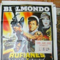 Cine: CARTEL ORIGINAL RUFIANES Y TRAMPOSOS. Lote 99423095