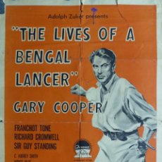 Cine: 3 LANCEROS BENGALIES - THE LIVES OF A BENGAL LANCER - GARY COOPER - AÑO 1958. Lote 26695921