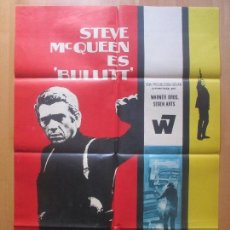 Cine: CARTEL CINE, BULLITT, STEVE MCQUEEN, ROBERT VAUGHN, 1969, MCP, C798. Lote 99538471