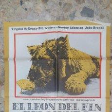 Cine: CARTEL EL LEON DEL FIN DEL MUNDO GRAN TAMAÑO 1M X 70 CM ORIGINAL MUY DIFICIL. Lote 99818399