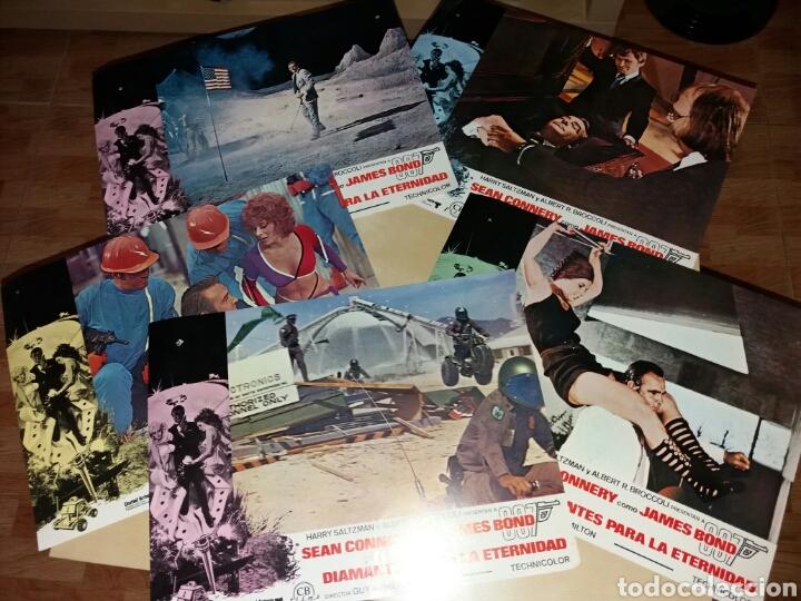 9 ANTIGUOS FOTOGRAMAS, JAMES BOND 007 - DIAMANTES PARA LA ETERNIDAD - SEAN CONNERY (Cine - Posters y Carteles - Acción)