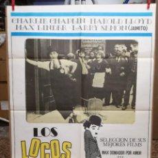 Cine: LOS LOCOS HEROES DE ANTAÑO CARTEL 100 X 70 CM ORIGINAL. Lote 99971451