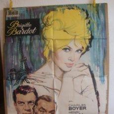 Cine: CARTEL CINE ORIG UNA PARISINA (1958) 70X100 / BRIGITTE BARDOT / JANO. Lote 100162219