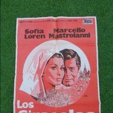 Cine: LOS GIRASOLES - SOFIA LOREN -MARCELLO MASTROIANNI - DIRECTOR VITTORIO DE SICA - RARO COLOR DE POSTER. Lote 100234763