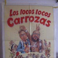 Cine: CARTEL CINE ORIG LOS LOCOS CARROZAS (1982) 70X100 / SILVIA TORTOSA. Lote 100237795
