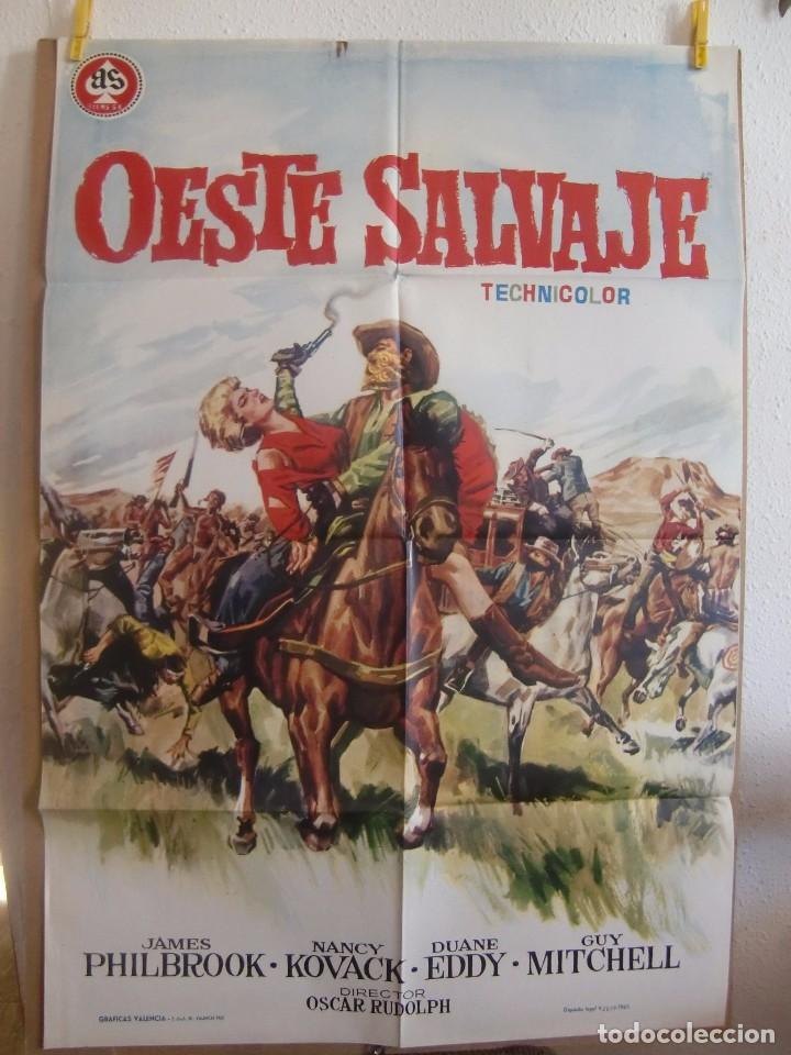 CARTEL CINE ORIG OESTE SALVAJE (1962) 70X100 / JAMES PHILBROOK / NANCY KOVACK (Cine - Posters y Carteles - Westerns)