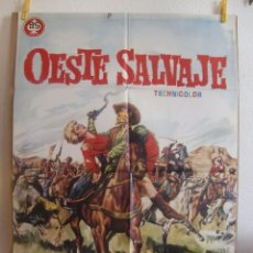 Cine: CARTEL CINE ORIG OESTE SALVAJE (1962) 70X100 / JAMES PHILBROOK / NANCY KOVACK. Lote 100240223