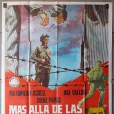 Cine: (N281) MAS ALLA DE LAS MONTAÑAS, MAXIMILIAN SCHELL,RAF VALLONE,JANO, CARTEL DE CINE ORIGINAL 100X70 . Lote 151493738