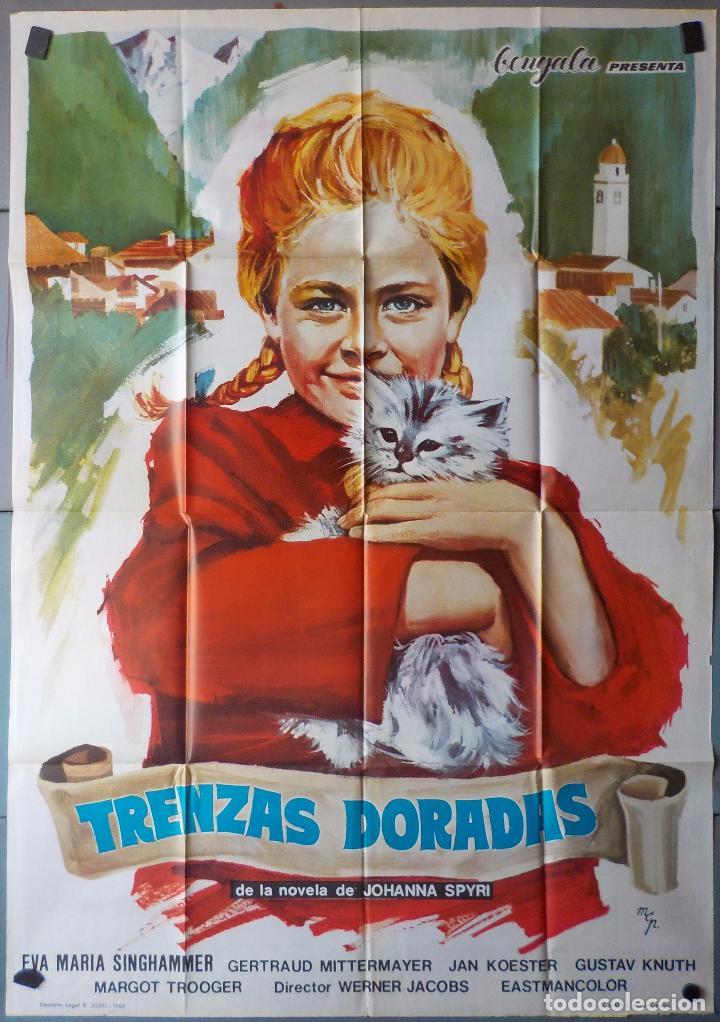 (N249) TRENZAS DORADAS, EVA MARIA SINCHAMMER, CARTEL DE CINE ORIGINAL 100X70 CM APROX (Cine - Posters y Carteles - Comedia)