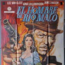 Cine: (N5) EL HOMBRE DE RIO MALO, LEE VAN CLEEF,GINA LOLLOBRIGIDA,JAMES MASON, CARTEL DE CINE ORIGINAL 100. Lote 141822733