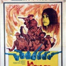 Cine: LA FURIA DE LOS SIETE MAGNÍFICOS. GEORGE KENNEDY. CARTEL ORIGINAL 1969. 100X70. Lote 100352595
