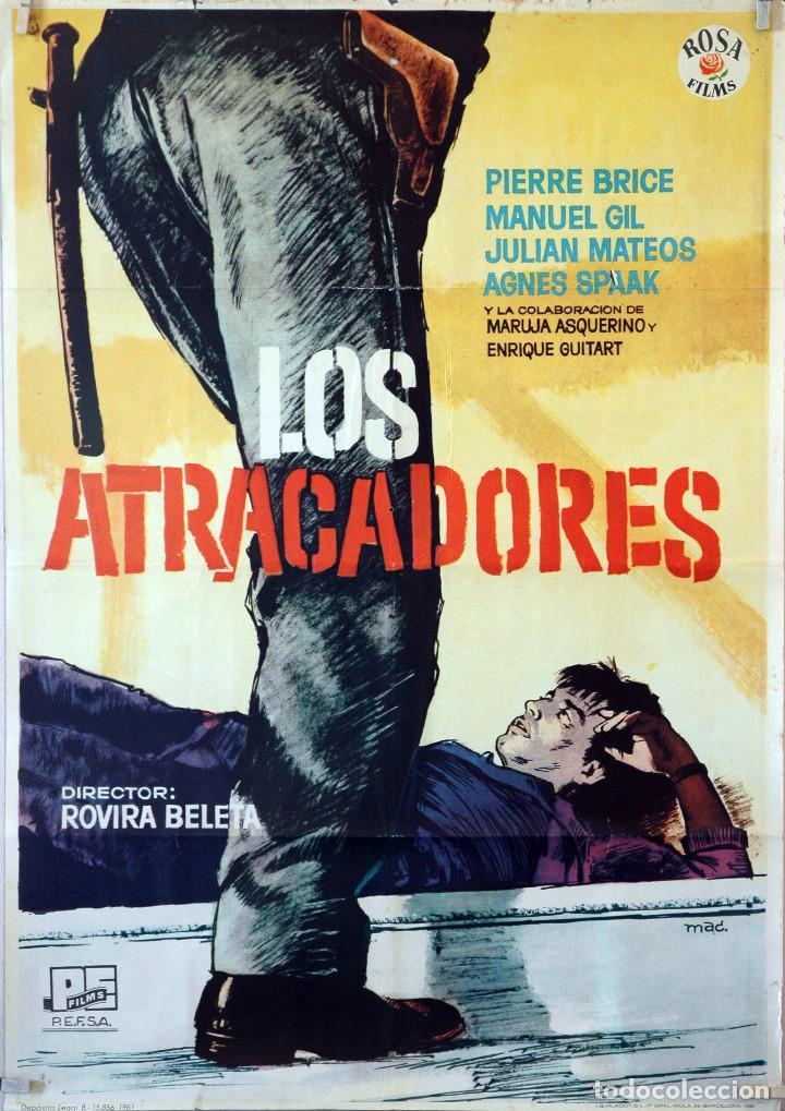 LOS ATRACADORES. ROVIRA BELETA. CARTEL ORIGINAL 1961. 70X100 (Cine - Posters y Carteles - Westerns)
