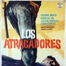 Cine: LOS ATRACADORES. ROVIRA BELETA. CARTEL ORIGINAL 1961. 70X100. Lote 100352679