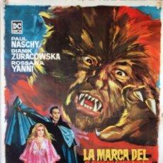 Cine: LA MARCA DEL HOMBRE LOBO. PAUL NASCHY. CARTEL ORIGINAL 1968. 70X100. Lote 100353487
