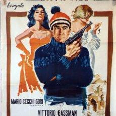 Cine: EL OCTAVO HOMBRE. VITTORIO GASSMAN. CARTEL ORIGINAL 1966. 70X100. Lote 100353895