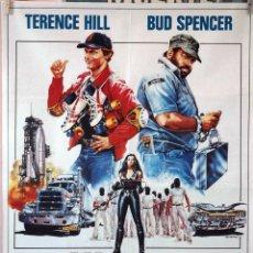 Cine: DOS SUPERSUPERESBIRROS. BUD SPENCER. TERENCE HILL. CARTEL ORIGINAL 1983. 70X100. Lote 100354003
