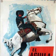 Cine: EL ÁGUILA NEGRA. CARTEL ORIGINAL 1962. 70X100. Lote 100354119
