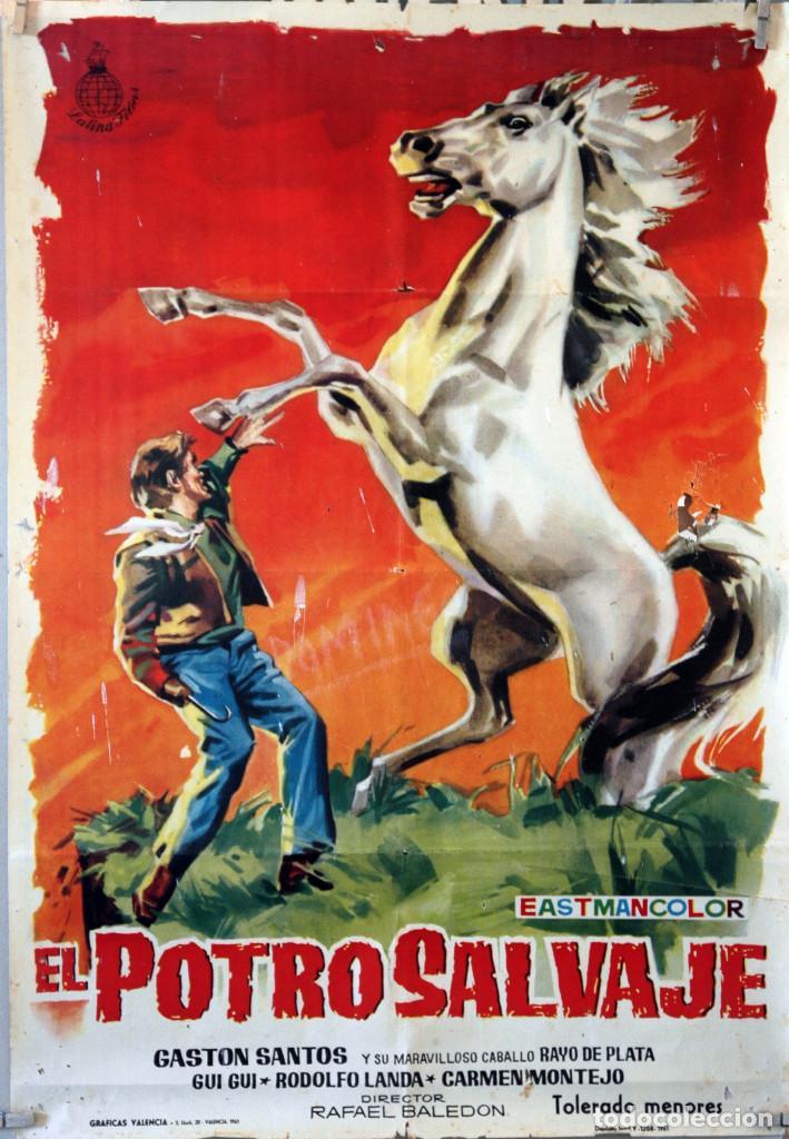 EL POTRO SALVAJE. RAFAEL BALEDON. CARTEL ORIGINAL 1961. 70X100 (Cine - Posters y Carteles - Westerns)