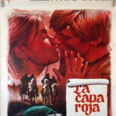 Cine: LA CAPA ROJA. CARTEL ORIGINAL 1971. 70X100. Lote 100354443