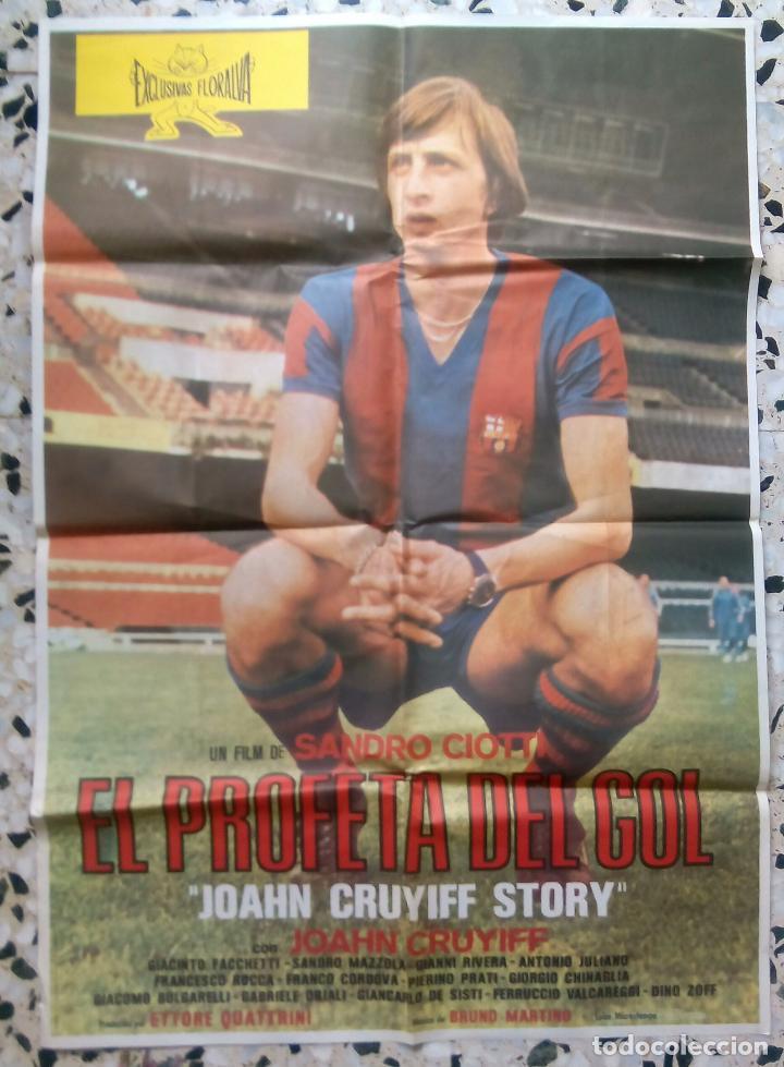 JOHAN CRUYFF EL PROFETA DEL GOL PÓSTER CARTEL CINE (Cine - Posters y Carteles - Deportes)