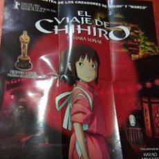 Cine: EL VIAJE DE CHIHIRO - POSTER DOBLE REVERSIBLE - . Lote 100511623
